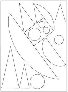 Coloriages à la manière d'...Auguste HERBIN / niveau 3 (difficile) Auguste Herbin, Matisse, Atelier D Art, Mini Canvas Art, Funny Drawings, Find Color, Art For Kids, Coloring Pages, Stencils