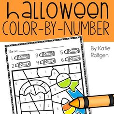 These Halloween Color-by-Number Pages are great for PreK, Kindergarten & homeschool students. This is a set of 6 color-by-number pages that are Halloween-themed. These simple, but fun activity is perfect for math centers, stations, review, or early or fast finishers. You preschoolers or Kinders will have fun coloring these bat-themed & candy corn-themed pages while developing their math skills & fine motor skills. {Autumn, Fall, Activities, Harvest}