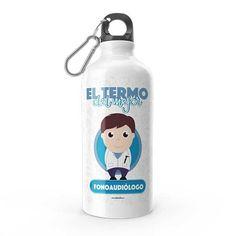 Termo - El termo del mejor fonoaudiólogo, encuentra este producto en nuestra tienda online y personalízalo con un nombre. Water Bottle, Drinks, Social, Priest, Carton Box, Store, Crates, Musica, Working Man