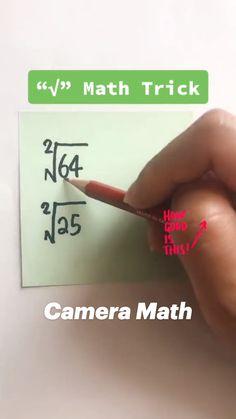 Cool Math Tricks, Maths Tricks, Math Hacks, Math Tutorials, Math Tips, Math Strategies, Math Resources, Math Lessons, Easy Math