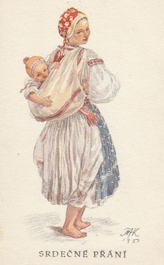 Maria Fischerova-Kvechova, 1892-1984 Baby Wearing Wrap, Baby Painting, Baby Mine, Historical Photos, Vintage Images, New Art, Design Art, Fairy Tales, Art Photography