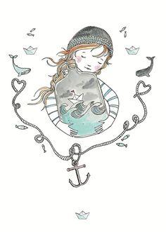 Marieke ten Berge 'Kaart Terrarium Sailor'