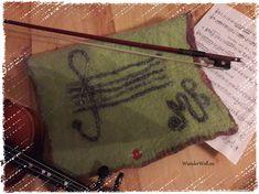Notenmappe aus feiner Merinowolle gefilzt Outdoor Blanket, Felting, Other, Nice Asses