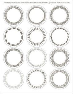Free Printable Label Templates Luxury Vintage Style Round Labels by Cathe Holden Series 2 Canning Labels, Jar Labels, Blank Labels, Circle Labels, Round Labels, Free Label Templates, Labels Free, Vintage Labels, Printable Vintage