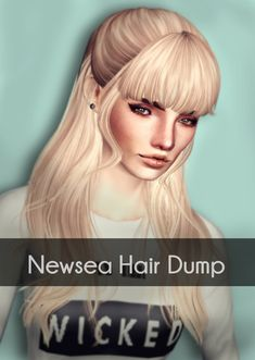 Magically Delicious Retextures Download Newsea`s hair dump by Magically Delicious, Long Haircut, Sims 3 hair Females YA / Teens / Elders