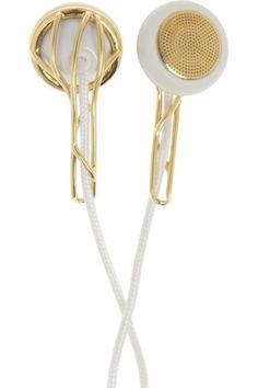 Frends|Ella gold-tone earphones|NET-A-PORTER.COM