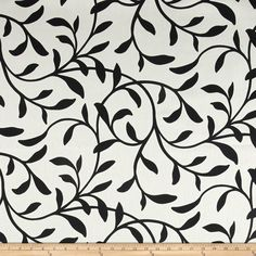 Largo Acrylic Indoor/Outdoor Tropical 1 Black from @fabricdotcom  This outdoor fabric is perfect for outdoor settings and indoors in sunny rooms. It is fade resistant up to 1,000 hours of direct sun exposure. These fabrics meet the rugged demands of outdoor living; they are stain and water resistant. Create decorative toss pillows, chair pads, tabletop and tote bags. To maintain the life of the fabric bring indoors when not in use. This fabric can easily be cleaned by wiping down or hand…