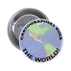 Cartographers Rule The World! Button
