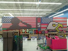 Post with 5713 views. Coke display at Walmart. Home Of The Brave, Land Of The Free, Semper Fi, Our Country, Store Displays, Red White Blue, Coca Cola, This Is Us, Walmart