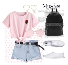"""""""Pink T-shirt"""" by doroshencko-daria on Polyvore featuring мода, Anja, WithChic, Vans, French Connection, LMNT и Ana Accessories"""