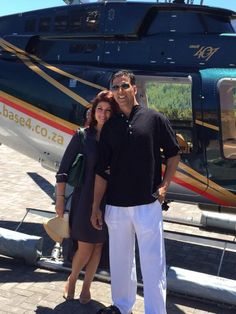 Twinkle Khanna brought in her birthday in style in the beautiful city of Cape Town in South Africa with husband, superstar Akshay Kumar.