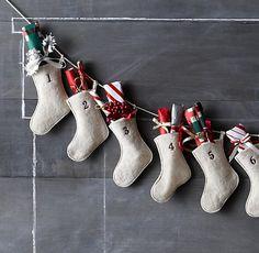 Wool Felt Stocking Advent Calendar | Holiday Décor | Restoration Hardware Baby & Child