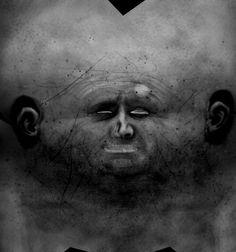 Halloween DIY Decor: face texture map pictures.