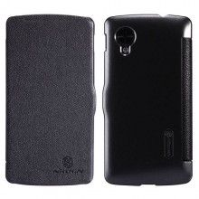 Forro Flip Nexus 5 Nillkin - Fresh Series Slim Flip Leather Case Negro  $ 42.836,36