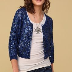 Free people showstopper sequin cardigan Slightly shorter sequin free people cardigan with a argyle pattern to it! All sequin I tack and completely on! In perfect condition! Free People Sweaters Cardigans