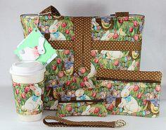 Easter Bunny Spring Handmade Tote Bag Handbag Purse Set Free Shipping | eBay