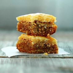 Top 10 Best Baklava Recipes - changing out the nuts (pistachios) or adding chocolate. But the best baklava ever is ground almonds and instead of syrup, use one pound of orange blossom honey! Mediterranean Dishes, Mediterranean Diet Recipes, Best Baklava Recipe, Macedonian Food, Food Tags, Comfort Food, Greek Recipes, Greek Desserts, Lebanese Recipes