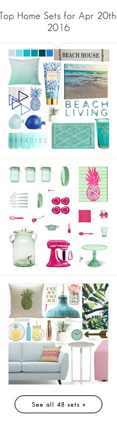 """""""Top Home Sets for Apr 20th, 2016"""" by polyvore ❤ liked on Polyvore featuring interior, interiors, interior design, home, home decor, interior decorating, Market Street Candles, Magenta, DENY Designs and AERIN"""