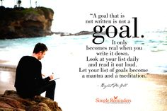 Write Down Your Goals by Bryant McGill (@Bryant McGill) at @Simple Reminders