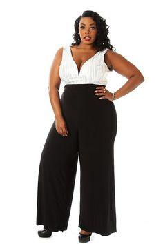 c07d8032c838 Plus Size Sequined V-neck Jumpsuit Availability  In stock.  46.95 - See more