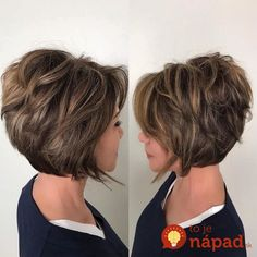 25 Mesmerizing Ways of Wearing Blonde Highlights on Brown Hair – Stunning and Elegant Statement Layered Haircuts For Women, Short Hairstyles For Thick Hair, Haircut For Thick Hair, Short Bob Haircuts, Short Hair With Layers, Curly Hair Styles, Layered Bob Hairstyles, Layered Bob Thick Hair, Medium Stacked Haircuts