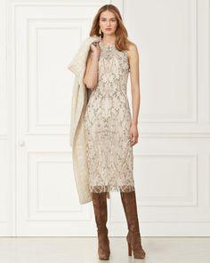 Giordano Beaded Dress - Collection Apparel Evening Dresses - RalphLauren.com