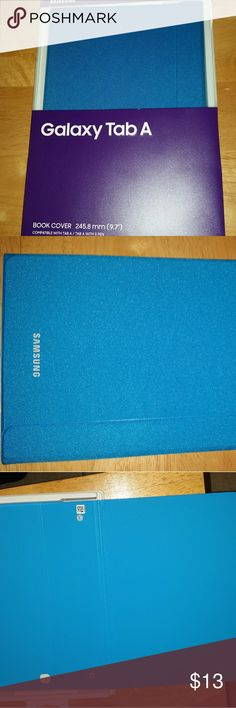 Samsung Galaxy Tab A Cover Blue Samsung Galaxy Tab A Cover. Brand new. Never used. Smoke free home Samsung Accessories Tablet Cases