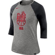 5520a56e Miami Heat Nike Women's Cityscape 3/4-Length Sleeve T-Shirt – Gray
