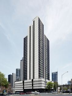 Image 31 of 34 from gallery of 33 MacKenzie Street / Elenberg Fraser. Photograph by Elenberg Fraser Mix Use Building, Tower Building, High Rise Building, Building Facade, Condominium Architecture, Facade Architecture, Amazing Architecture, Street Pictures, High Rise Apartments