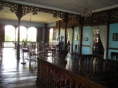 """Typical living room in a Philippine """"bahay-na-bato"""" (house of rock) built in 1897."""