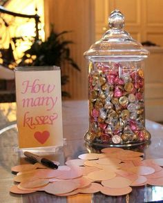 kisses themed bridal shower ideas