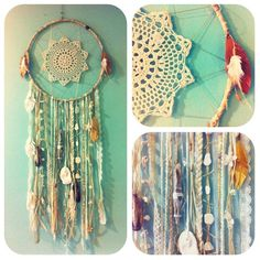 Something interesting to do with all the Doilies my grandmom has made for me over the years... DIY dreamcatcher