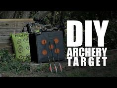 DIY archery target ( It will stop crossbows and compound bows arrows ) - YouTube