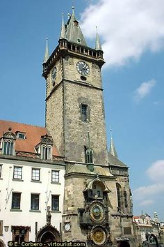 Old Town Hall, with clock, Prague