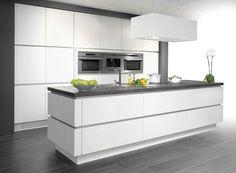 Novy Zen in a kitchen by Dovy Kitchen Island For Dining, Modern Kitchen Cabinets, Kitchen Cabinet Design, Open Plan Kitchen, Modern Kitchen Design, Kitchen Flooring, Interior Design Kitchen, New Kitchen, Kitchen Decor