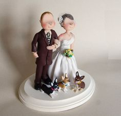 Custom Wedding Cake Topper  Bride Groom and by maraluiza on Etsy, $185.00