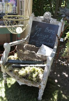 Upcycled Garden Style. . . a website from Gardens Inspired: Recycle and upcycle an old chair