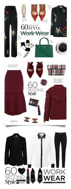 """""""Winners for 60-Second Style: Work Wear"""" by polyvore ❤ liked on Polyvore featuring STELLA McCARTNEY, Dsquared2, Jaeger-LeCoultre, Prada, H&M, Rebecca Vallance, Rubis, Alanui, J.Reneé and Chanel"""