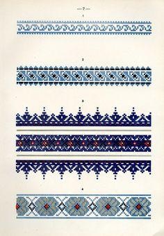 Cross Stitch Borders, Cross Stitch Flowers, Cross Stitch Designs, Bead Loom Patterns, Weaving Patterns, Needlepoint Patterns, Embroidery Patterns, Palestinian Embroidery, Alpha Patterns