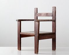 vintage children's chair / 1940s hand built kid's chair