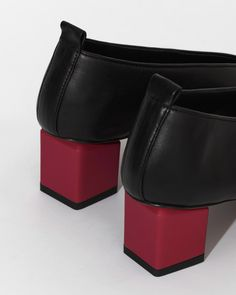 Gray Matters Mildred Classic in Nero Rosso Shoe Sites, Gray Matters, Pumps, Belt, Grey, Classic, Leather, Accessories, Shopping