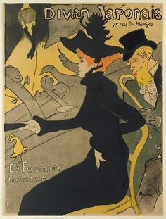 Henri de Toulouse–Lautrec (French, 1864–1901). Divan Japonais, 1892–93. The Metropolitan Museum of Art, New York. Bequest of Clifford A. Furst, 1958 (58.621.17) | Divan Japonais was one of the many café-concerts in late nineteenth-century Paris frequented by Toulouse-Lautrec. #paris #French #postimpressionism #artnouveau #printmaking #design