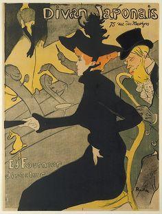 Henri de Toulouse–Lautrec (French, 1864–1901). Divan Japonais, 1892–93. The Metropolitan Museum of Art, New York. Bequest of Clifford A. Furst, 1958 (58.621.17) | Divan Japonais was one of the many café-concerts in late nineteenth-century Paris frequented by Toulouse-Lautrec. #paris
