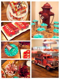 Firetruck, Fire Engine, Fireman Birthday Party Ideas | Photo 3 of 21