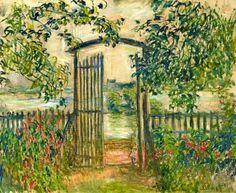 The Garden Gate at Vetheuil - Claude Monet, 1881