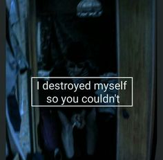 Destruction is myself.
