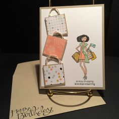 June 2014 stamp-a-stack Birthday Cards: ladies card 2 Stampin'Up In This Together
