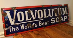 Large vintage metal Volvolutum soap sign, beautiful decorative/collectors item