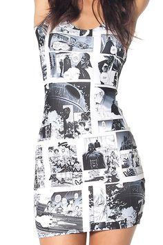 Star Wars Manga Dress | Black Milk Clothing ($A99.00) - Svpply