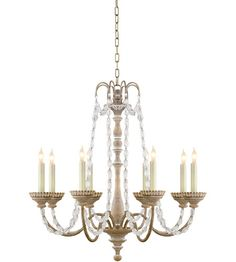 Visual Comfort CHC1543BW-SG E.F. Chapman Flanders 8 Light 26 inch Belgian White Chandelier Ceiling Light #LightingNewYork